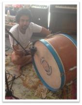 Charles on big drum