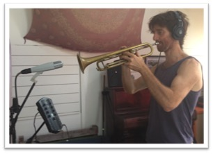 Peter on trumpet